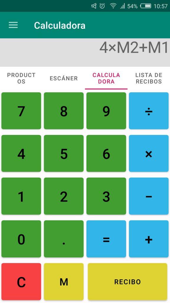 Crear recibos rápidamente en Elementary POS con la calculadora